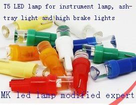 Car LED lamp for instrument lamp ashtray light and high brake lights flat interface(China (Mainland))