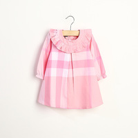 Wholesale 5pcs/lot causal two color plaid girls dress summer kids clothing beautiful children dress