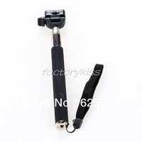 Free Shipping Handheld Telescopic Tripod Monopod Self-portrait For Camera Camcorder Black 10-236
