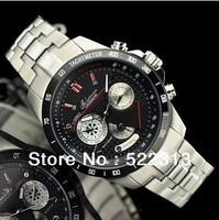 Geleiman Men quartz casual sports watch Complete Calendar Multifunctional Wearable stainless steel watches 1220