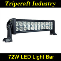 Free Shipping 3PCS 72W LED LIGHTING BAR 12V 24V IP67 Flood Spot Beam For 4WD 4x4 Off Road Light Bars JEEP TRUCK BUS Accessories