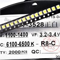 2000PCS/LOT 1210 white 3528 SMD LED bright white light-emitting diodes