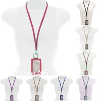 Crystal Rhinestone Lanyard With Key Ring ID Badge and Clasp - Many Colors - NEW