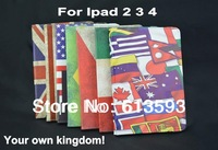 2014 New National USA UK Flag Case Magnetic Tablet Leather Folio Stand Case For Ipad 2 3 4 10pieces/lot