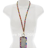 Multi-Colors Rhinestone Crystal Bling Neck LANYARDs Key Holder & ID Badge Holder
