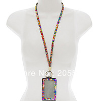 Multi-Colors Rhinestone Crystal Bling Neck LANYARDs Key Holder & ID Badge Holder