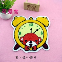 Alarm clock sweater fabric applique sweatshirt clothes decoration stickers clothes patch stickers line  201402