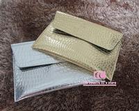 New Arrival crocodile pattern metal mirror PU leather day clutches for women / Fashion python envelope bag women's handbag
