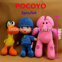 3pcs/lot POCOYO Cartoon Stuffed Animals & Plush Toys & Hobbies Elly & Pato & POCOYO plush toy