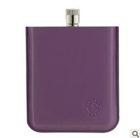 85ml Hip Flask Brand 3 Ounce Wine Flask Stainless Steel Water Bottle Best Flask with PURPLE Case