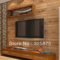 freeship wine box wooden thick wallpaper zakka style cafeshop backdrop livingroom wallpaper Three-dimensional Wall Paper 5.3m2