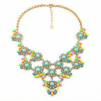 Free Shopping 2014 New Arrival Exaggeration Vintage Punk Rivet Short Crystal Necklace Pendants Fashion Jewelry For Women SN0030