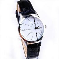 2014 Fashion Brand Designer White/Black Leather Belt Watch Women Ladies Young Girls Analog Quartz Dress Wrist Watches 158602