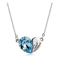 Heart  Crystal Pendant Necklace Crystal Jewellery new arrive hot sale pendant necklace