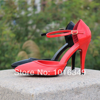 New arrived 2014 Free shipping Women Hot red color sexy 12CM ultra High heel Pumps platform Nightclubs/party shoes EU Size 41-46