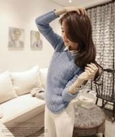 Free Shipping Fashion Warm Pullover Women Sweater Women Vintage Knitwear Long sleeve o-neck Wool Knitted Sweaters