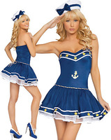 sexy lingerie princess blue navy women sailor temptation  blue sex lingerie 9236-2 , free shipping