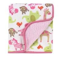 Newborn Infant Baby Blanket Microfiber Soft 2 Layer Velour Sherpa Baby Blankets Cute Velboa Blankets