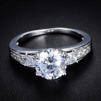 Free Shipping 2014 Fashion Ladies Hollow Rhinestone Platinum Plated Classic Rings Wholesale 12pcs/lot