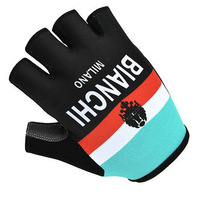 Cycling Gloves 2014 Bianchi Milano team black gloves Bike bicycles gloves with Gel pads raching gloves for Tour of France