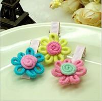 New  Children Flowers hairpins for baby girls, cute  baby hair clips,Children girls hair accessories