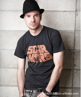 StarWars Printing Black Cotton men's Casual T-shirts Spring sports style Size: M-XL