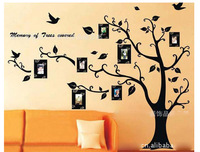 New 2014 Tree Photo Frame Wall Sticker Home Decor Creative Fashion Family Stickers Free Shipping