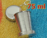 2 Pieces 75ml Water Cups Creative Retractable Cup Stainless Steel Cup 68g