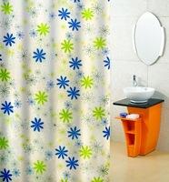 free shipping&new,1.8m*2m pchrysanthemum printed waterproof shower curtain,polyester taffeta shower curtain,bath shade