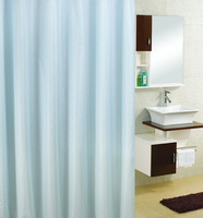 free shipping, 1.8m*1.8m/2m*2.2m peva waterproof shower curtain,solid color bath shade,blue,