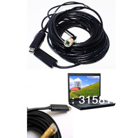 45ft 15M USB Waterproof Endoscope Borescope Inspection Camera 4 LED Light Inspection Camera