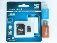 128MB 8GB 16GB 32GB 64GB TF card/Micro SD card +SD transfer adapter +memory card reader +cartoon box+Free shipping!