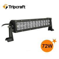 Wholesale!!!!!   72W LED WORK LIGHT BAR 9-32V DC 3W/CREE LED Light Bar for Offroad 4X4 JEEP TRUCK TRACTOR