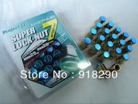 wheel nuts  Project MU Car Nut7 Racing lug Nuts Super 7 car  Lug Nut Nuts P:12*1.5&12*1.25  Lenght:33MM (glod)