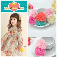 10pcs/Lot new chiffon kids/girls hair clips accessories fascinator crown  flower haipins for hair PJ103