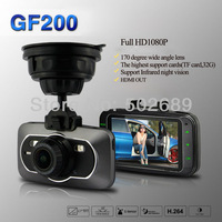 Car DVR Camera GF200 Full HD 1920*1080P Ambarella A5S50 chip H.264 + G-Sensor + Touch Buttons video Recorder Freeshipping