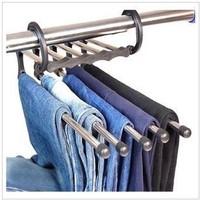 Chrome Foldable Closet Hanger   5in1 95196