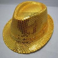 Show Jazz hat Sequins Michael Jackson Dance Hip-Hop Topper 5 Color Size:Head circumference 55-58 cm