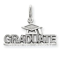 fashion graduate cap pendant charms letter antique silver 12pcs 1lot free shipping