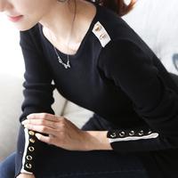 2013 autumn and winter women plus size sweater long-sleeve T-shirt female basic shirt