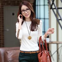 2013 all-match plus size o-neck slim female t-shirt basic shirt female clothes women's
