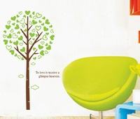 Free shipping!!  JM7097 decorative giant tree wall stickers office wall sticker 60*90cm