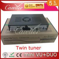 Mini VU+DUO TWIN TUNER Linux Digital satellite receiver Linux OS 405mhz Processor Original vu+Software (1pvcs mini duo)
