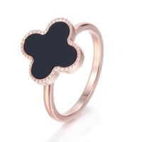 Lucky four leaf clover ring
