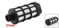 "21mm 1/2"" PT Male Thread Cylinder Pneumatic Silencer Muffler Noise Absorb Deadener"