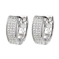 GNE0774 Hot S925 Hoop Earrings 13x13x4.5mm Fashion design 925 Sterling silver Zircon Earrings Wholesale Women's Jewelry