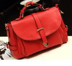 2014 new fashion PU leather bag handbag women messenger handbag lady's handbag free shipping P75