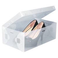 1pcs for retail PP plastic clear middle size shoes box organizer 28*18*10cm