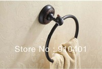 Hot Sale Wholesale And Retail Promotion Oil Rubbed Bronze Wall Mounted Towel Rack Holder Shower Towel Ring Bar Holder