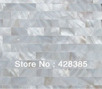 FREE SHIPPING Pure White Mother of Pearl Tiles,Shell Mosaic Tiles, bathroom  tiles, no gap   tiles